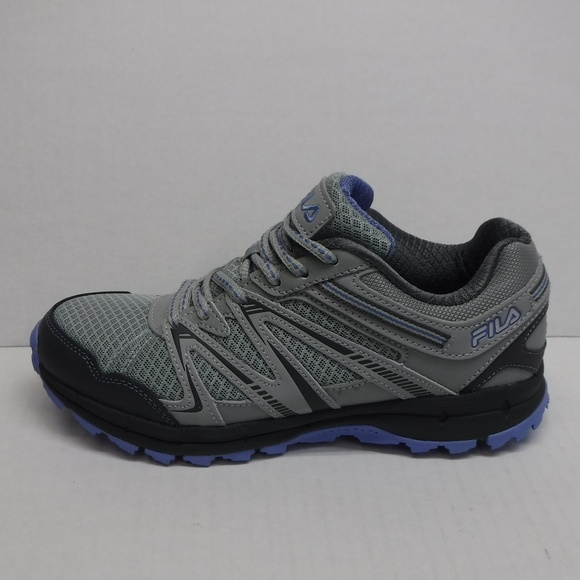 Fila Size 8 Grey Trail Hiking Sneakers New Womens